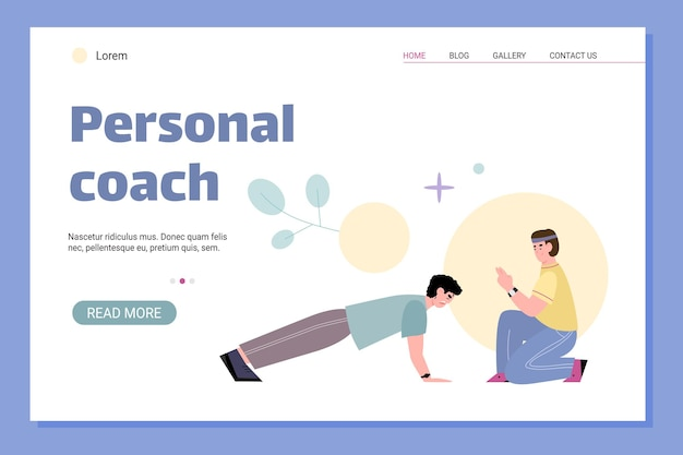 Web app for sport trainings under guidance of personal coach