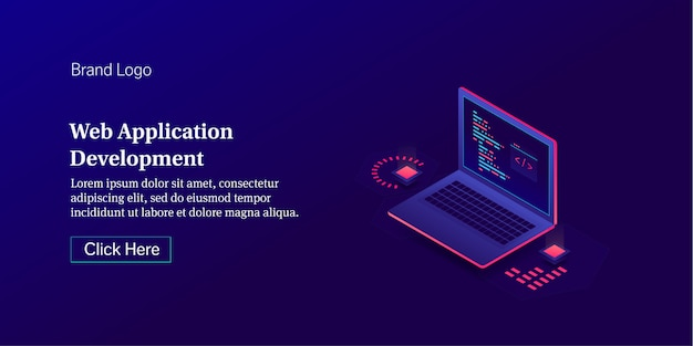 Web application development conceptual banner