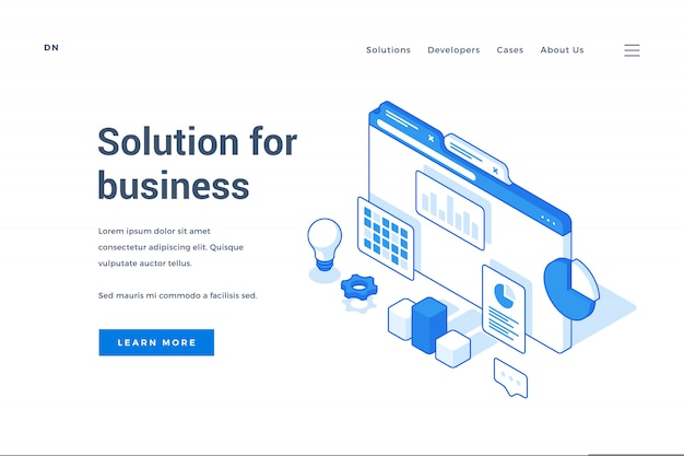 Web banner advertising creative solutions for business