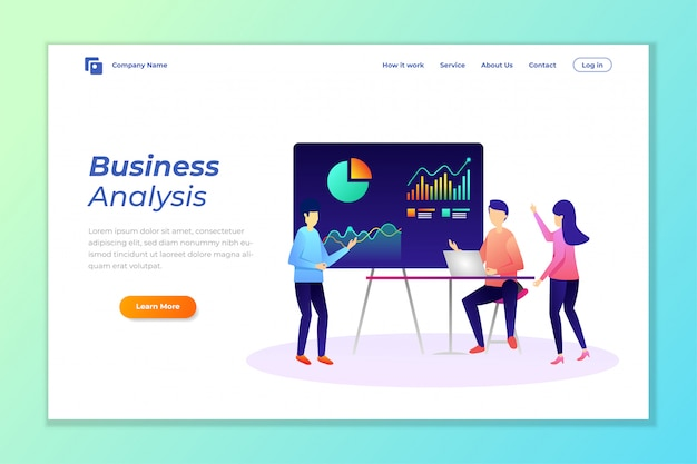 Web banner background vector for data analysis