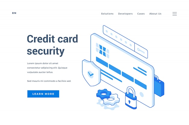 Web banner for credit card security service
