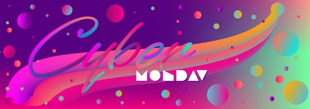 Web banner for cyber monday or any discount