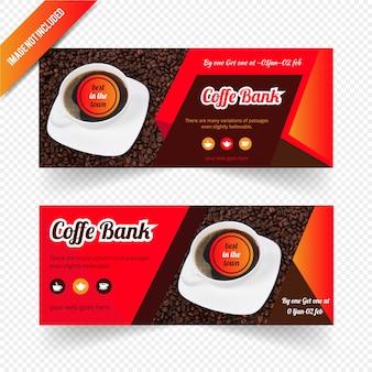 커피 숍을위한 웹 배너 디자인