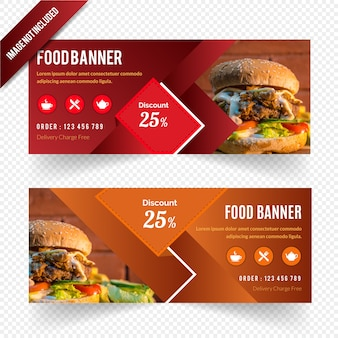Web banner design for restaurant