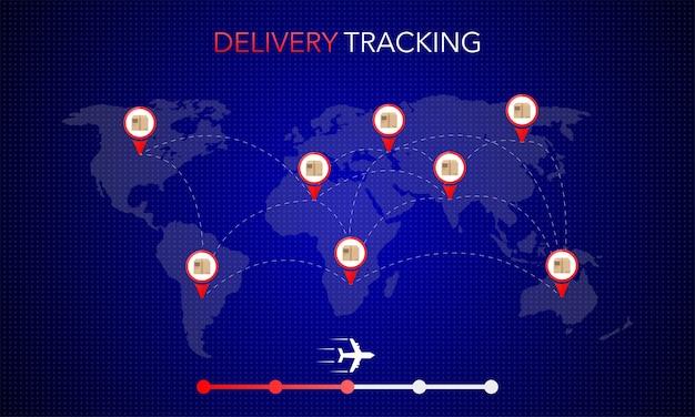 モバイルアプリデザイン用のwebバナー。オンライン配信サービスのコンセプト。オンライン注文のコンセプト。