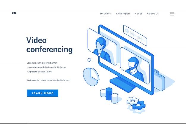 最新のビデオチャットアプリケーションのwebバナー