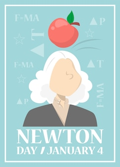 Web banner for newton day on january