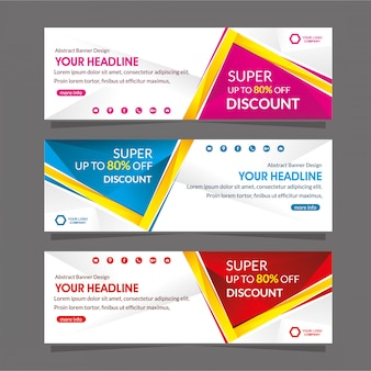 Web banner promotion template  special discount offer sale
