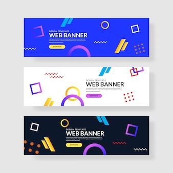 Web banner set