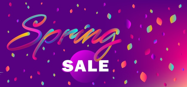 Web banner for spring sale shopping