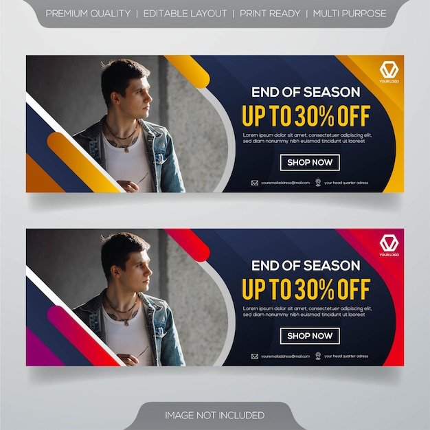 Web banner template design
