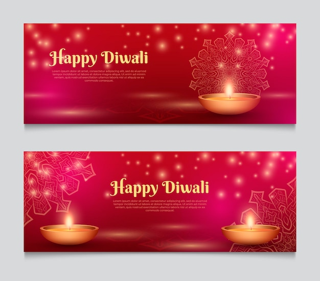 Web banner template diwali festival