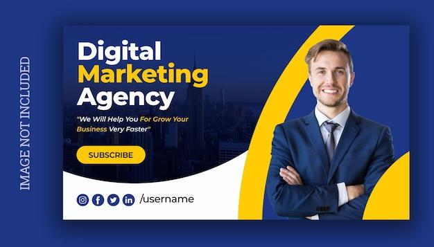 Шаблон веб-баннера для цифрового маркетинга Premium векторы