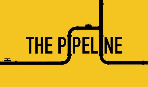 웹 배너 템플릿 파이프라인이 있는 산업 배경 석유 물 또는 피팅이 있는 가스 파이프라인