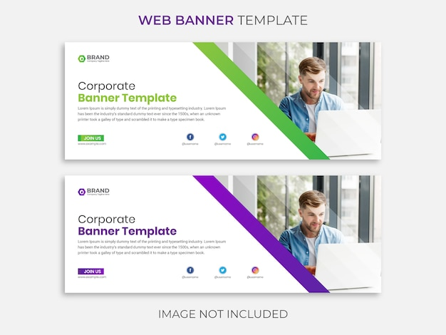 Web banner template, social media post template