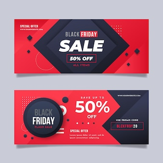 Web banner templates black friday concept