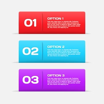 Web banners infographic elements
