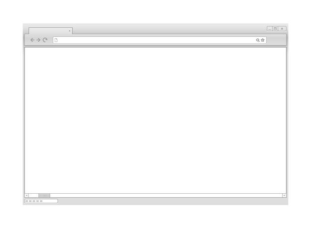 웹 브라우저 벡터 모형입니다. 콘텐츠 준비