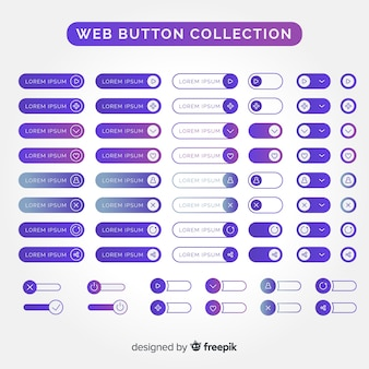 평면 디자인에 웹 버튼 설정