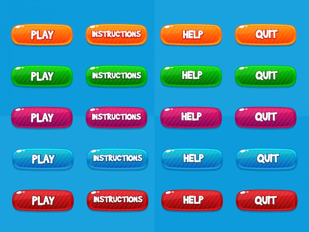 Web buttons, game design elements