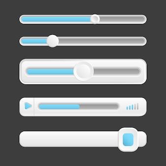 Веб-кнопки, векторный интерфейс слайдеров коллекции