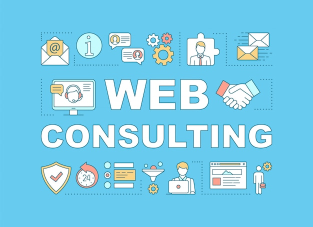 Web consulting word banner