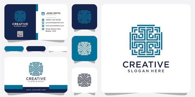 Веб-концепция дизайна логотипа сообщества творческой линии. вдохновение дизайна логотипа сообщества столба с визитной карточкой