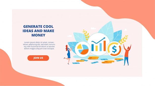Веб-дизайн о генерировать крутые идеи и зарабатывать деньги.