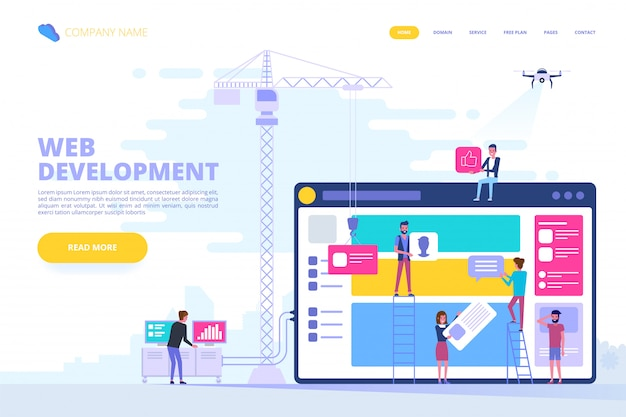 Web design and app development concept