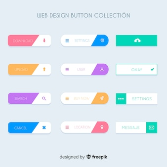 Web design button collection