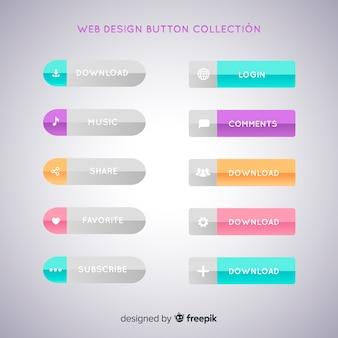 Web design button collection
