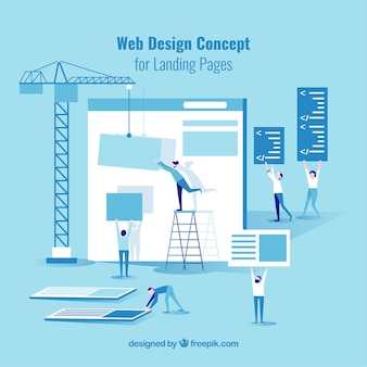 Web design concept for landing page