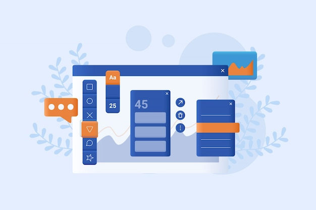 Web design concept vector illustration flat style design