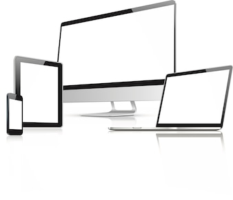 Web design in electronic devices vector