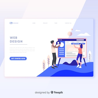 Web design landing page template