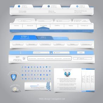 Web design navigation set.
