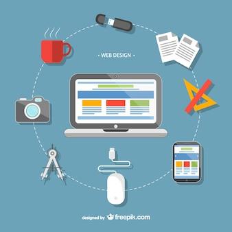 Web design tools Free Vector