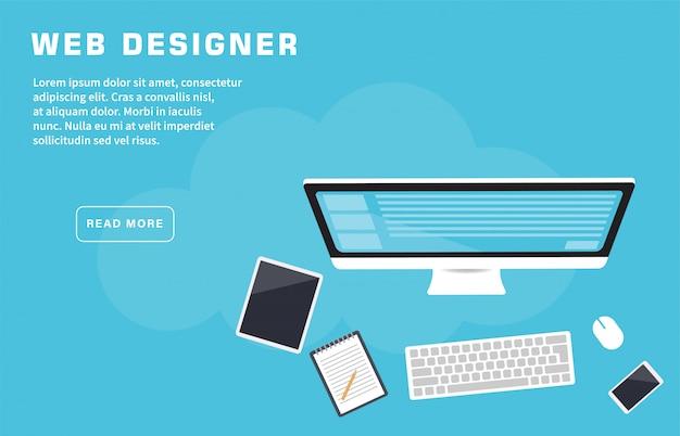 Web designer landing page template