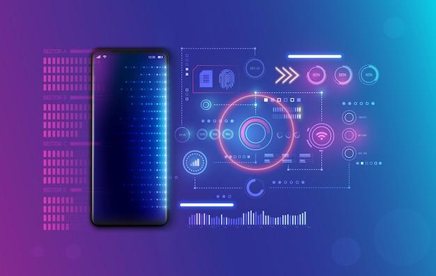 Веб-разработка для концепции мобильного телефона. создавайте программы и приложения для мобильных смартфонов. программирование или кодирование кода сайта.