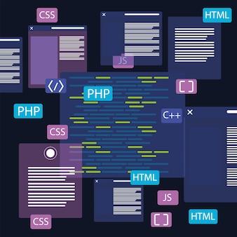 웹 개발 및 웹사이트 코드