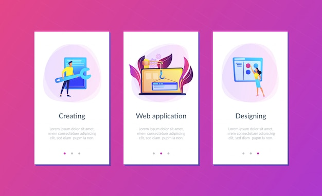 Web development app interface template