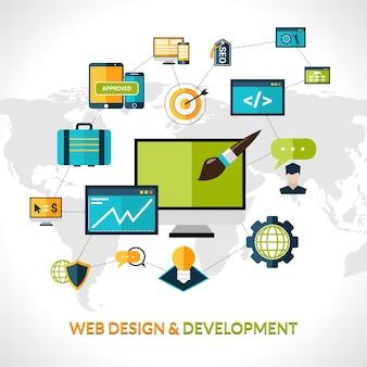 Состав веб-разработки Бесплатные векторы