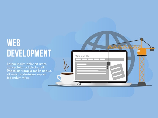Web development concept illustration vector design template