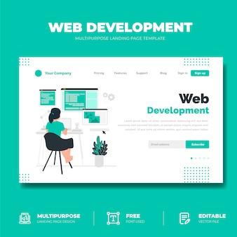 Web開発コンセプトのランディングページ
