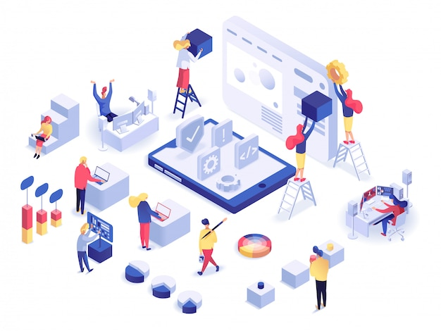 Web development isometric