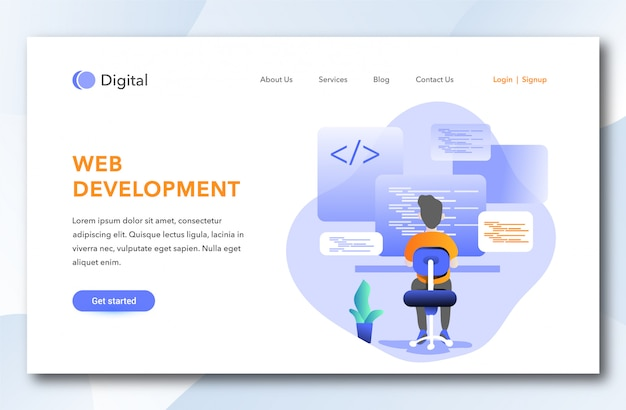 Web development landing page design