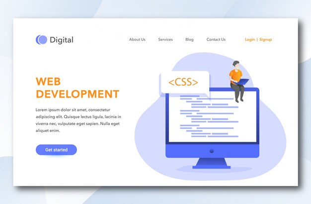 Web development landing page design