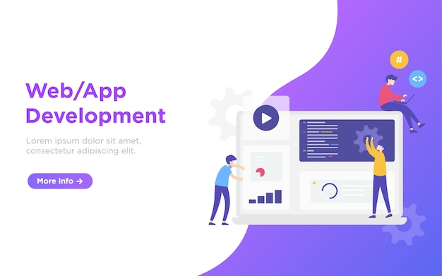 Web development landing page illustration