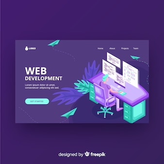 Web development landing page