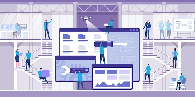 웹 개발. 현대 평면 개념